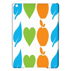 Fruit Apple Orange Green Blue Ipad Air Hardshell Cases by Mariart