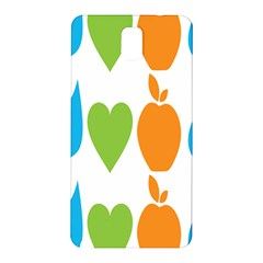 Fruit Apple Orange Green Blue Samsung Galaxy Note 3 N9005 Hardshell Back Case by Mariart