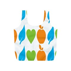 Fruit Apple Orange Green Blue Full Print Recycle Bags (s)  by Mariart