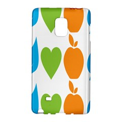 Fruit Apple Orange Green Blue Galaxy Note Edge by Mariart