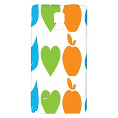 Fruit Apple Orange Green Blue Galaxy Note 4 Back Case by Mariart
