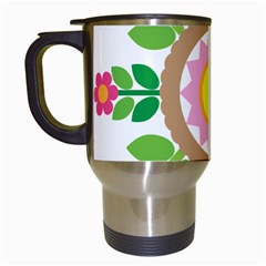 Flower Floral Sunflower Sakura Star Leaf Travel Mugs (white) by Mariart