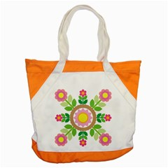 Flower Floral Sunflower Sakura Star Leaf Accent Tote Bag by Mariart