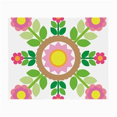 Flower Floral Sunflower Sakura Star Leaf Small Glasses Cloth (2 Side) by Mariart