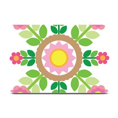 Flower Floral Sunflower Sakura Star Leaf Plate Mats by Mariart