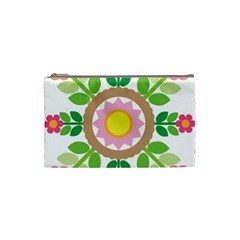 Flower Floral Sunflower Sakura Star Leaf Cosmetic Bag (small)  by Mariart