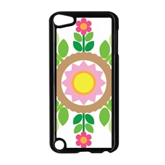 Flower Floral Sunflower Sakura Star Leaf Apple Ipod Touch 5 Case (black) by Mariart