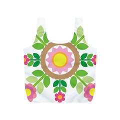 Flower Floral Sunflower Sakura Star Leaf Full Print Recycle Bags (s)  by Mariart