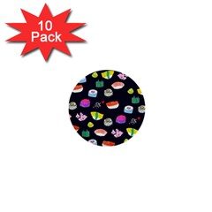 Japanese Food Sushi Fish 1  Mini Buttons (10 Pack)  by Mariart