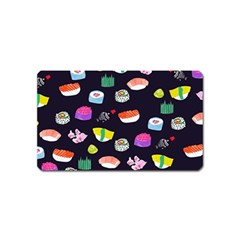 Japanese Food Sushi Fish Magnet (name Card) by Mariart