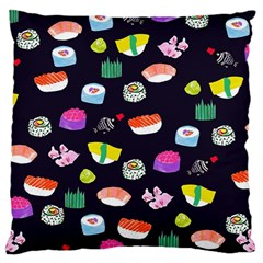 Japanese Food Sushi Fish Large Cushion Case (two Sides) by Mariart