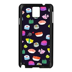 Japanese Food Sushi Fish Samsung Galaxy Note 3 N9005 Case (black) by Mariart