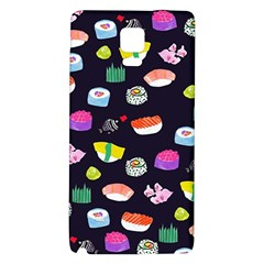 Japanese Food Sushi Fish Galaxy Note 4 Back Case by Mariart