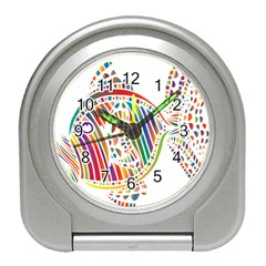 Colorful Fish Animals Rainbow Travel Alarm Clocks by Mariart