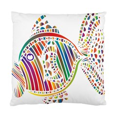 Colorful Fish Animals Rainbow Standard Cushion Case (one Side) by Mariart