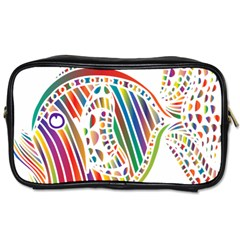 Colorful Fish Animals Rainbow Toiletries Bags 2 Side by Mariart