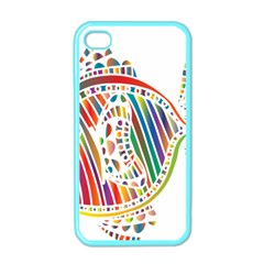 Colorful Fish Animals Rainbow Apple Iphone 4 Case (color) by Mariart