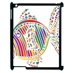 Colorful Fish Animals Rainbow Apple Ipad 2 Case (black) by Mariart