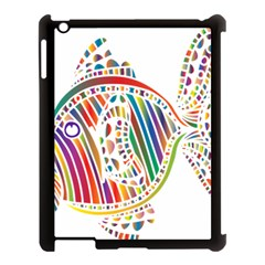 Colorful Fish Animals Rainbow Apple Ipad 3/4 Case (black) by Mariart