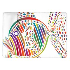 Colorful Fish Animals Rainbow Samsung Galaxy Tab 10 1  P7500 Flip Case