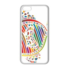 Colorful Fish Animals Rainbow Apple Iphone 5c Seamless Case (white) by Mariart