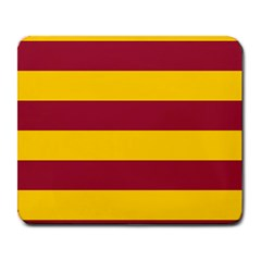 Oswald s Stripes Red Yellow Large Mousepads by Mariart