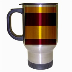 Oswald s Stripes Red Yellow Travel Mug (silver Gray) by Mariart