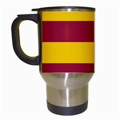 Oswald s Stripes Red Yellow Travel Mugs (white) by Mariart