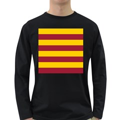 Oswald s Stripes Red Yellow Long Sleeve Dark T Shirts by Mariart
