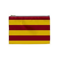 Oswald s Stripes Red Yellow Cosmetic Bag (medium)  by Mariart