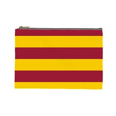 Oswald s Stripes Red Yellow Cosmetic Bag (large)  by Mariart