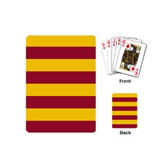 Oswald s Stripes Red Yellow Playing Cards (mini)  by Mariart