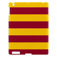 Oswald s Stripes Red Yellow Apple Ipad 3/4 Hardshell Case by Mariart