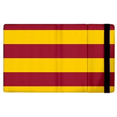 Oswald s Stripes Red Yellow Apple Ipad 2 Flip Case by Mariart