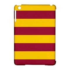 Oswald s Stripes Red Yellow Apple Ipad Mini Hardshell Case (compatible With Smart Cover) by Mariart