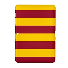 Oswald s Stripes Red Yellow Samsung Galaxy Tab 2 (10 1 ) P5100 Hardshell Case  by Mariart