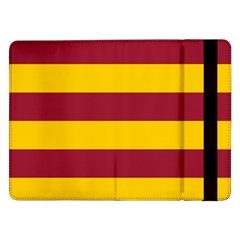 Oswald s Stripes Red Yellow Samsung Galaxy Tab Pro 12 2  Flip Case by Mariart