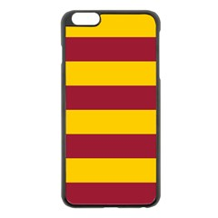 Oswald s Stripes Red Yellow Apple Iphone 6 Plus/6s Plus Black Enamel Case