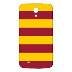 Oswald s Stripes Red Yellow Samsung Galaxy Mega I9200 Hardshell Back Case by Mariart