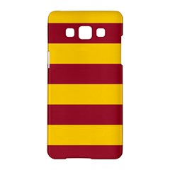 Oswald s Stripes Red Yellow Samsung Galaxy A5 Hardshell Case  by Mariart