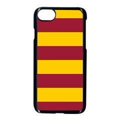 Oswald s Stripes Red Yellow Apple Iphone 7 Seamless Case (black) by Mariart