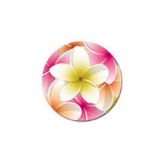 Frangipani Flower Floral White Pink Yellow Golf Ball Marker (10 Pack) by Mariart