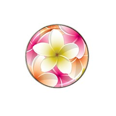 Frangipani Flower Floral White Pink Yellow Hat Clip Ball Marker by Mariart