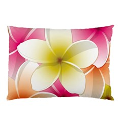 Frangipani Flower Floral White Pink Yellow Pillow Case by Mariart