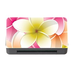 Frangipani Flower Floral White Pink Yellow Memory Card Reader With Cf by Mariart