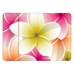 Frangipani Flower Floral White Pink Yellow Samsung Galaxy Tab 8 9  P7300 Flip Case by Mariart
