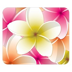 Frangipani Flower Floral White Pink Yellow Double Sided Flano Blanket (small)  by Mariart