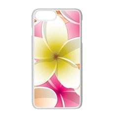 Frangipani Flower Floral White Pink Yellow Apple Iphone 7 Plus White Seamless Case by Mariart