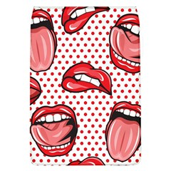 Lipstick Lip Red Polka Dot Circle Flap Covers (l)  by Mariart