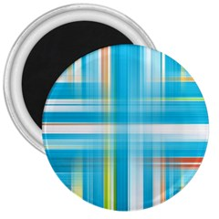 Lines Blue Stripes 3  Magnets by Mariart